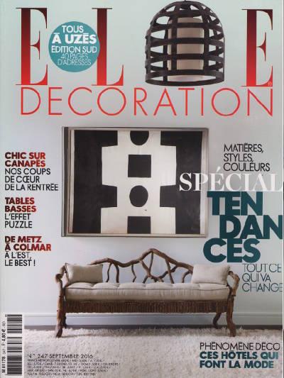 Couverture du magazine Elle Décoration Septembre 2016