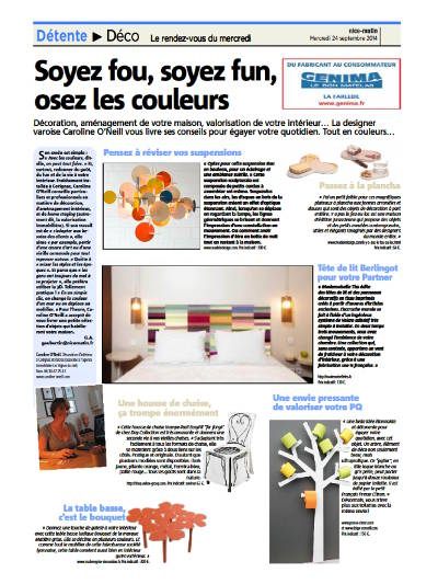 Article on Caroline O'neill in Var matin in 2014