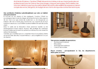 Press article in Maison & Jardin about our agency