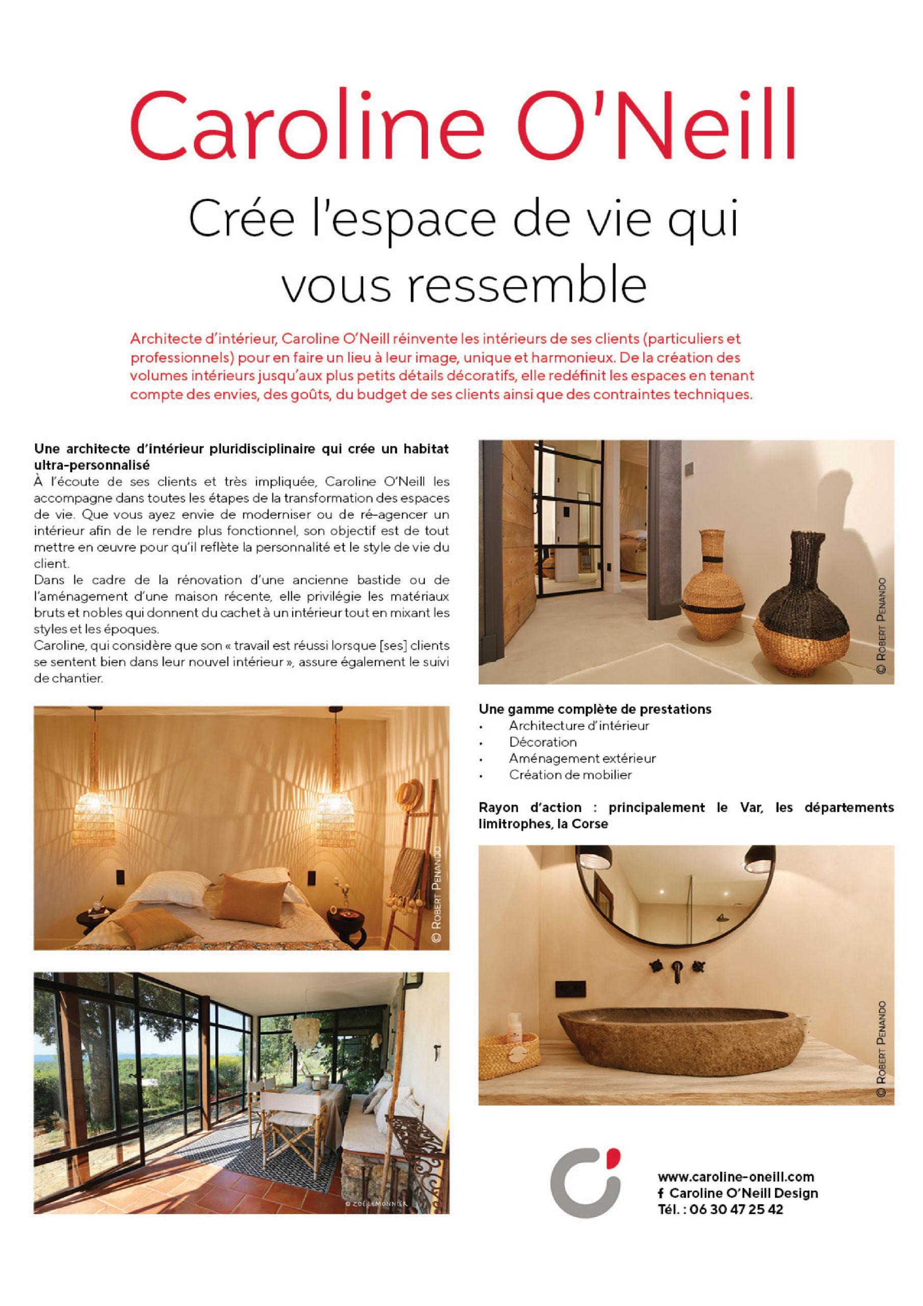 Le magazine spécialisé Maison & Jardin publie en mai un article sur le travail de notre agence