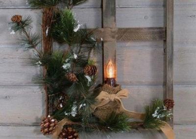 Original Christmas wall decoration with lighting