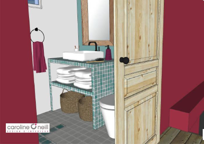Vue 3D de salle de bain