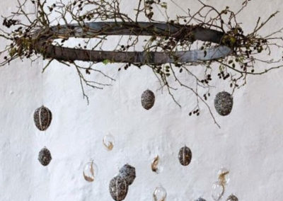 wreath and eggs for Easter