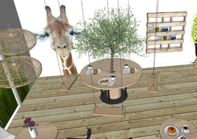 Children's play areas – tea room