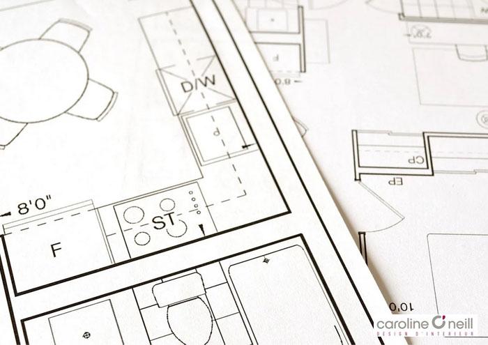 plan d'architectère d'intérieur pour un chantier à Ramatuelle dans le Var