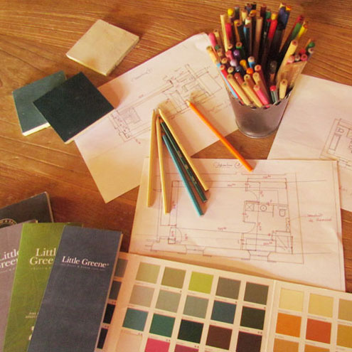 plans and colour samples
