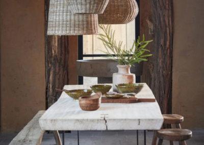 dining room with wabi sabi spirit