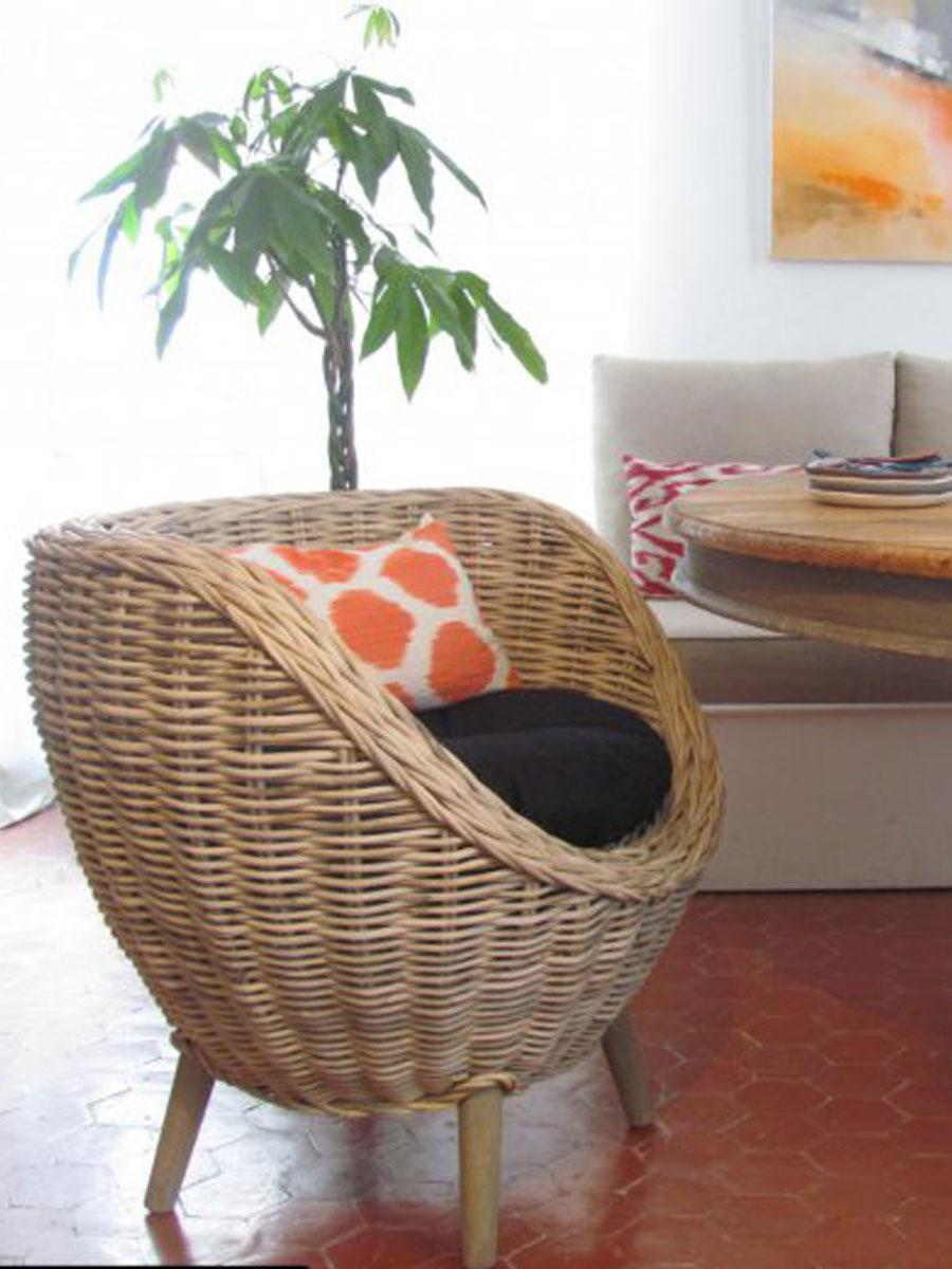 salle à manger fauteuil confortable et douillet